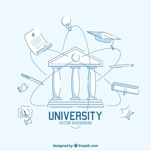Tło Uniwersytetu W Stylu Płaski Darmowych Wektorów