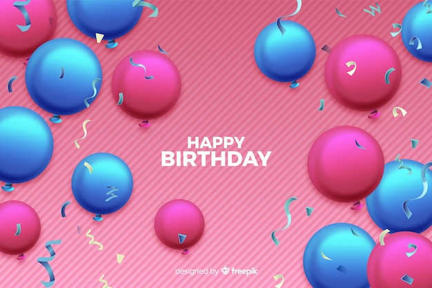 Tło Urodziny Balony Darmowych Wektorów