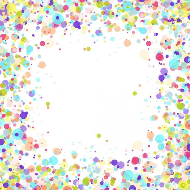 Tło Urodziny Wektor Z Konfetti Kolorowy Papier Latający Premium Wektorów