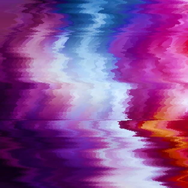 Tło Usterki Wektorowej. Zniekształcenie Danych Obrazu Cyfrowego. Kolorowe Abstrakcyjne Tło Dla Twoich Projektów. Estetyka Chaosu Błędu Sygnału. Rozpad Cyfrowy. Darmowych Wektorów