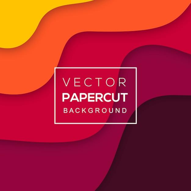 Tło wektor kolorowy papier papercut Darmowych Wektorów