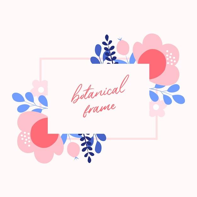 Tło Wektor Kwiat. Ramka W Kwiaty Premium Wektorów