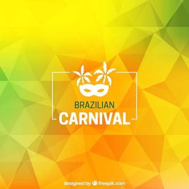 Tło wielokąta brazylijski karnawał Darmowych Wektorów