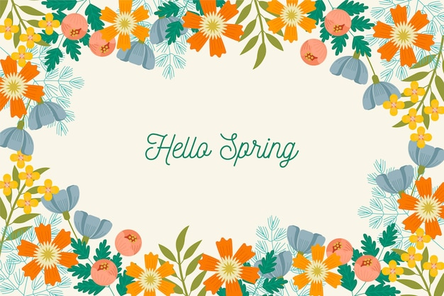 Tło Wiosna Premium Wektorów