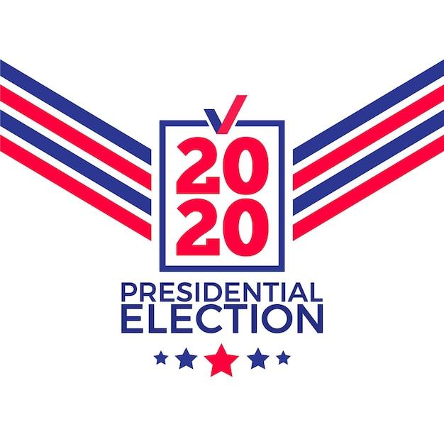 Tło Wyborów Prezydenckich W Usa W 2020 R Darmowych Wektorów