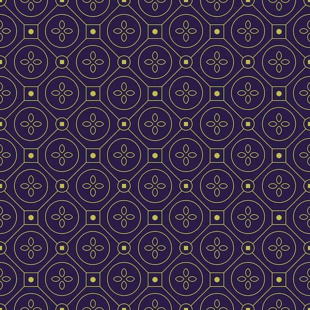 Tło Wzór Geometryczny Batik. Klasyczna Tapeta Z Tkaniny. Elegancka Dekoracja Etniczna Premium Wektorów