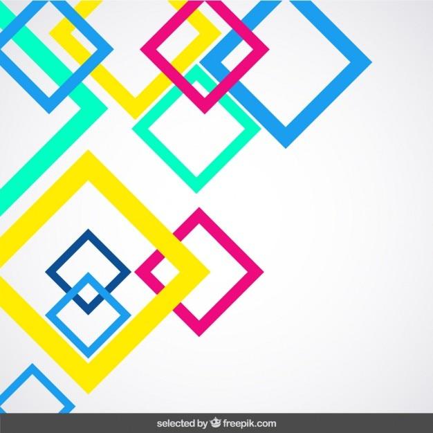 Tło z kwadratów fluor przedstawił Darmowych Wektorów