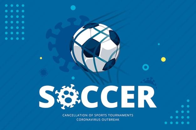 Tło Z Odwołanymi Wydarzeniami Sportowymi Premium Wektorów