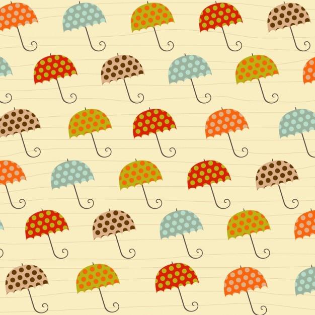 Tło z parasolami Darmowych Wektorów