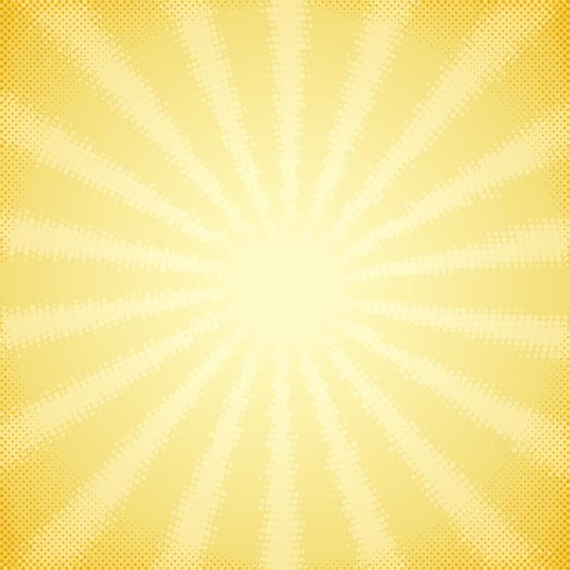 Tło z półtonów promienie słońca Premium Wektorów