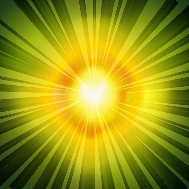 Tło Zielony Promienie Promieniowe Retro Darmowych Wektorów
