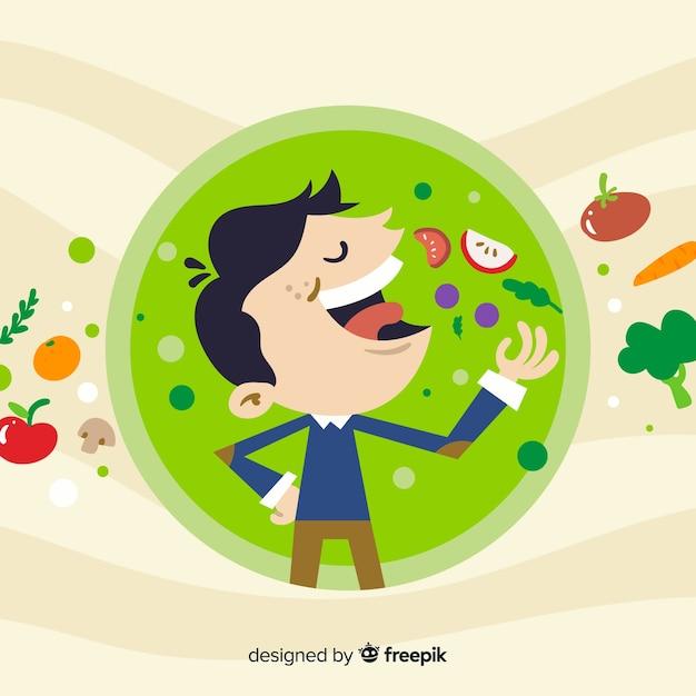 Tło żywności Darmowych Wektorów