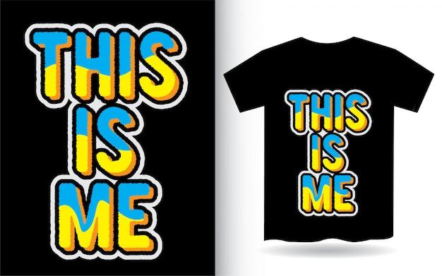 """To Hasło Typografii """"ja"""" Na Koszulkę Premium Wektorów"""