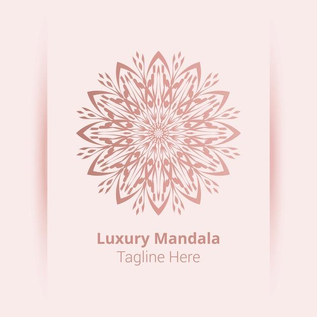 To Jest Luksusowe Ozdobne Tło Logo Mandali, Styl Arabeski. Premium Wektorów