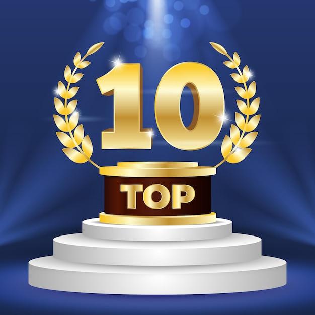 Top 10 Najlepszych Nagród Na Podium Darmowych Wektorów