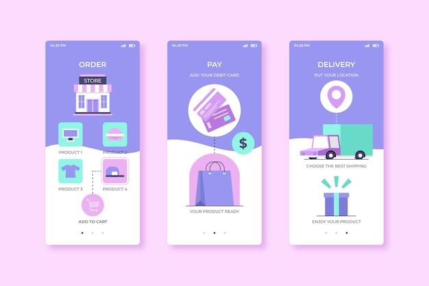 Torby Na Zakupy Kupują Online Aplikację Mobilną Darmowych Wektorów
