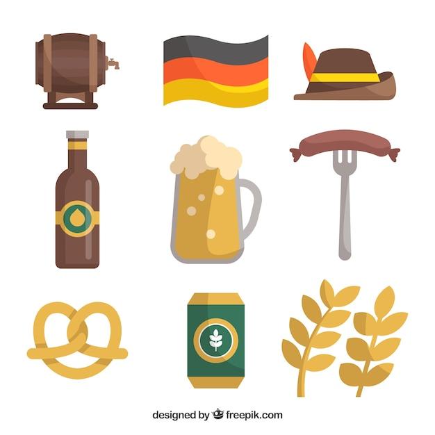 Tradycyjne elementy niemieckie Darmowych Wektorów