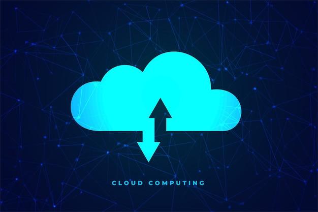 Transfer Danych Koncepcji Technologii Przetwarzania W Chmurze Darmowych Wektorów