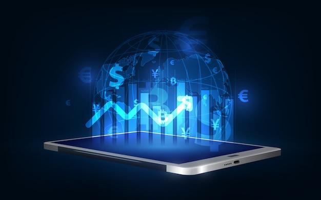 Transfer Pieniędzy. Waluta Globalna. Giełda Papierów Wartościowych Premium Wektorów