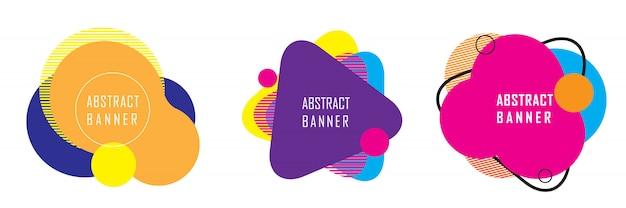 Transparent abstrakcyjny kształt geometryczny Premium Wektorów