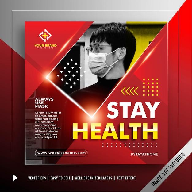 Transparent Bezpieczny Kwadrat, Aby Zapobiec Szablonowi Promocji Ataku Koronawirusa Darmowych Wektorów