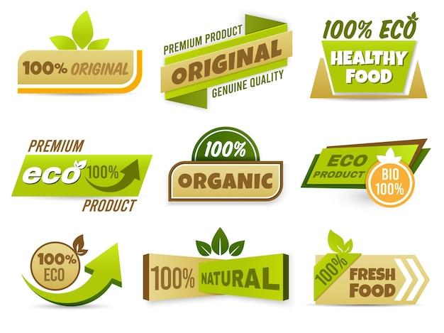 Transparent Etykiety Ekologicznej Darmowych Wektorów