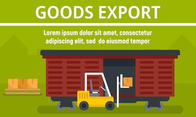 Transparent Koncepcja Eksportu Towarów Wagonów Premium Wektorów