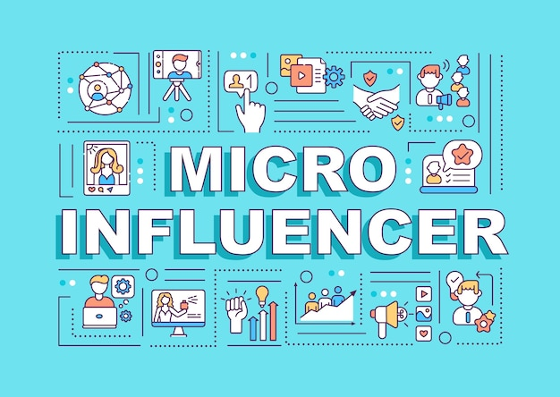 Transparent Koncepcje Słów Micro Influencers Premium Wektorów
