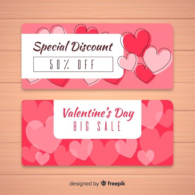 Transparent płaski sprzedaży Valentine Darmowych Wektorów