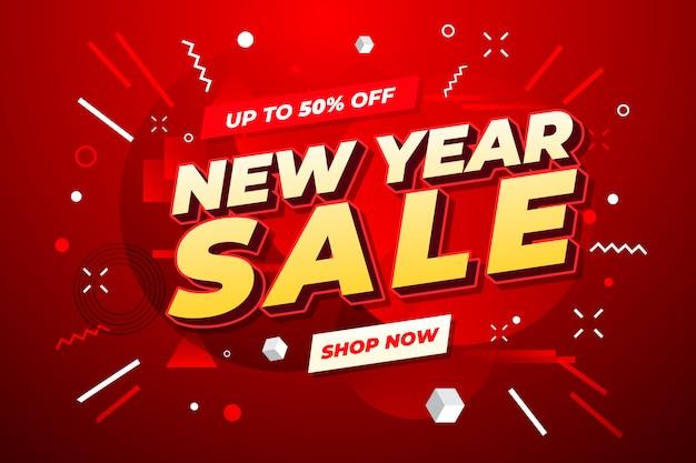 Transparent sprzedaży nowego roku. Premium Wektorów