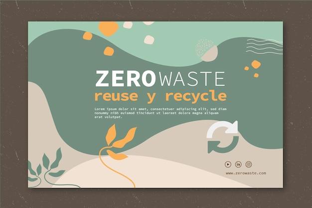 Transparent Szablon Zero Waste Premium Wektorów