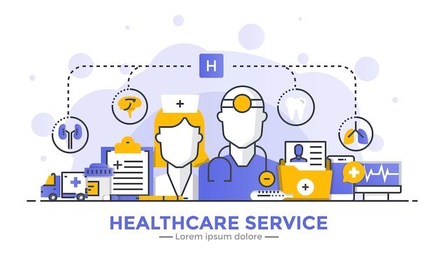 Transparent Usługi Opieki Zdrowotnej Premium Wektorów