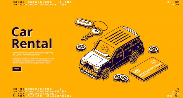 Transparent Wektor Wypożyczenia Samochodu Darmowych Wektorów