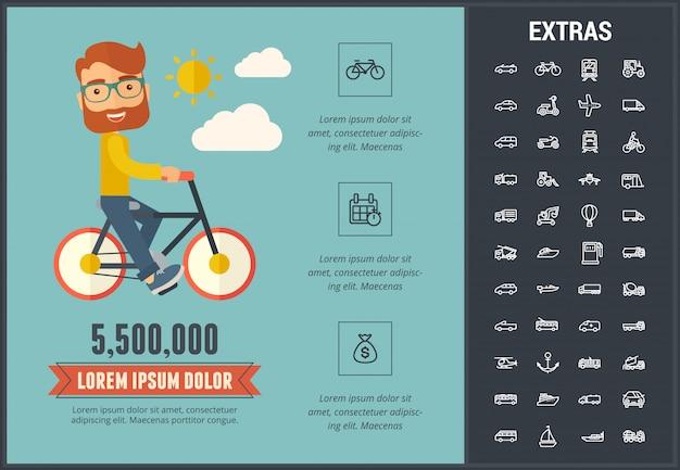 Transport Infographic Szablon I Elementy Premium Wektorów