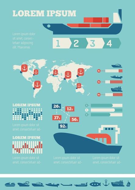 Transport infographic szablon. Premium Wektorów