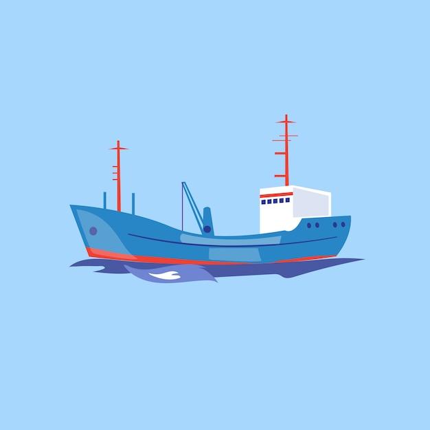 Transport Statku Na Wodzie. Premium Wektorów