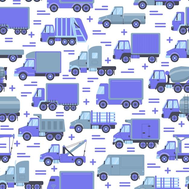 Transportu Bezszwowy Wzór Premium Wektorów