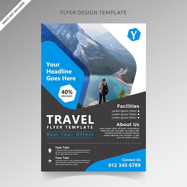 Travel tour i szablon ulotki wakacje Premium Wektorów