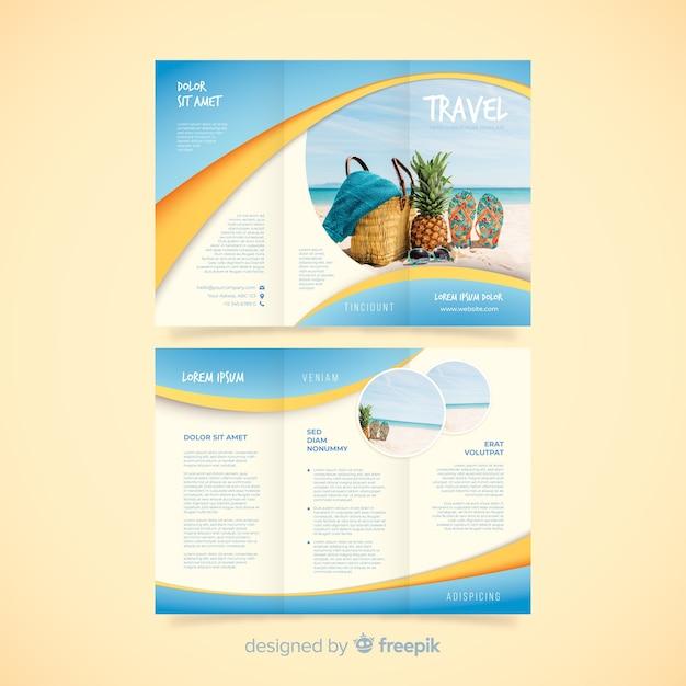 Travel trifold szablon broszury Darmowych Wektorów