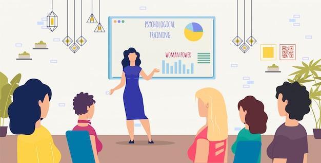 Trening psychologiczny dla kobiet wektor koncepcji Premium Wektorów