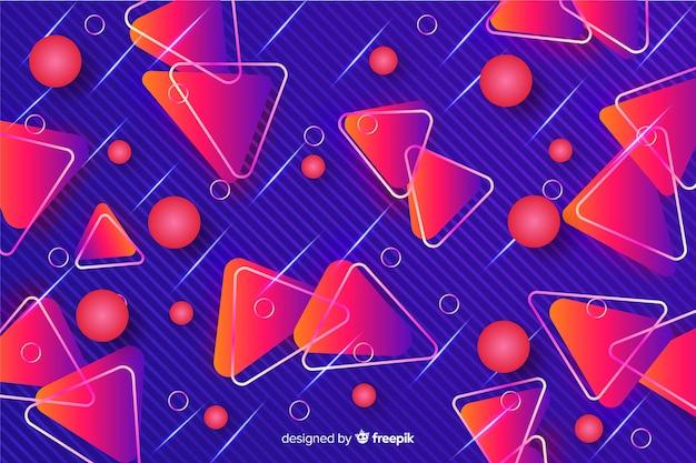 Trójkąty Czerwone Tło Dekoracyjne Geometryczne Darmowych Wektorów