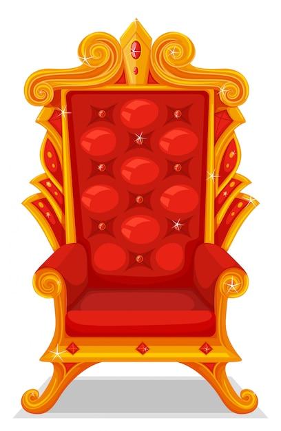 Tron wykonany ze złota Premium Wektorów