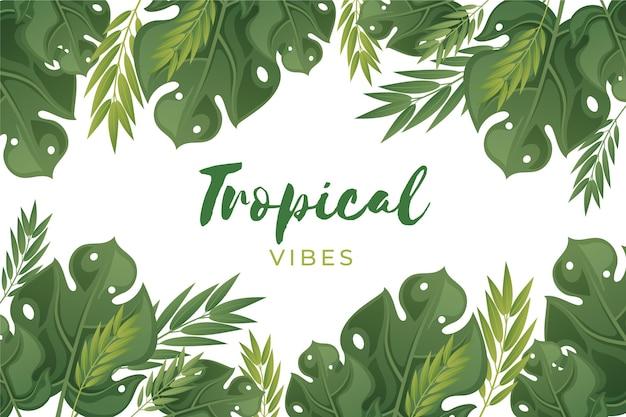 Tropikalna Flora Tło Darmowych Wektorów