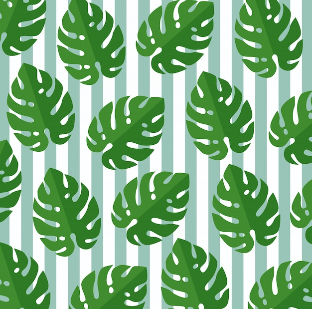 Tropikalne liście roślin botanicznych wzór Darmowych Wektorów