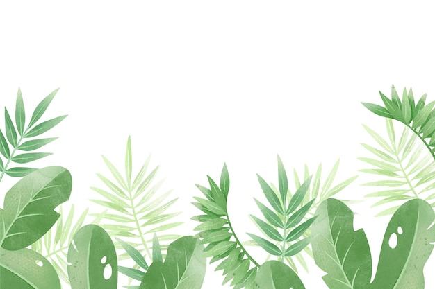 Tropikalny Tło Z Białą Przestrzenią Darmowych Wektorów