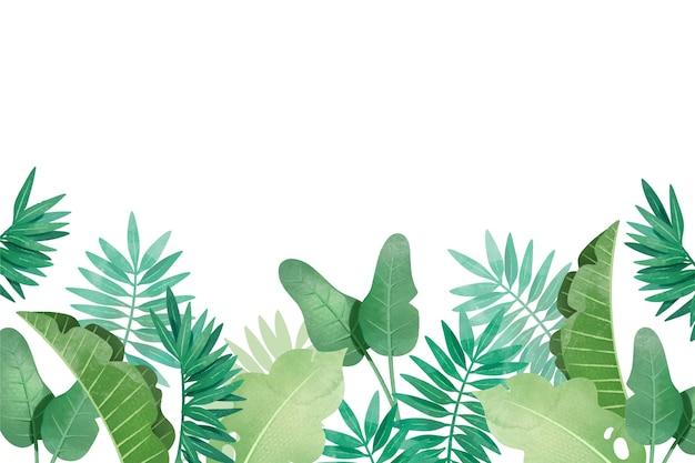 Tropikalny Tło Z Różnymi Liśćmi Darmowych Wektorów