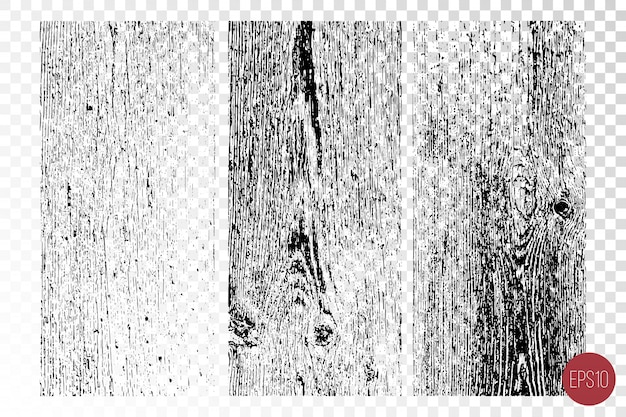 Trudne Warunki Nakładają Tekstury Chropowatej Powierzchni, Drewniane ściany. Grunge Tła. Premium Wektorów