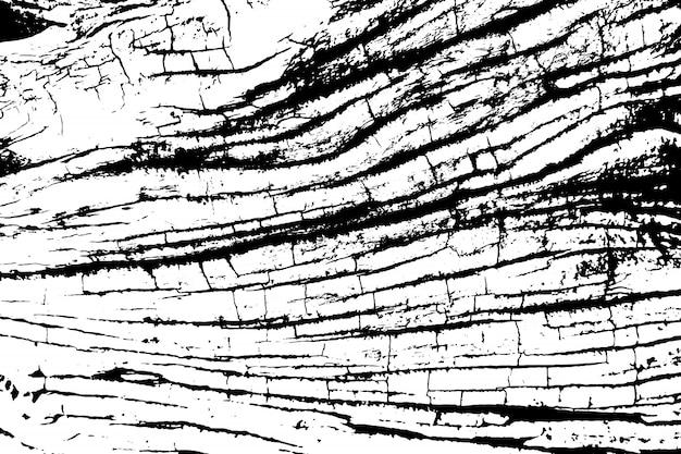 Trudnej Sytuacji Nakładki Tekstury Chropowatej Powierzchni, Stary Pień Drzewa Z Pęknięciami, Pierścienie Na Drzewie. Tło Grunge. Zasób Graficzny Jednego Koloru. Premium Wektorów