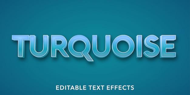 Turkusowe Edytowalne Efekty Tekstowe Premium Wektorów