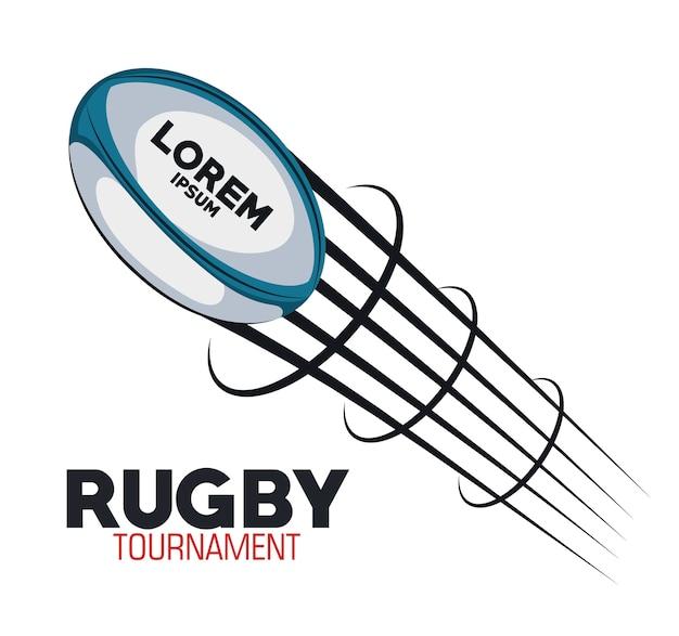 Turniej Do Latania W Rugby Premium Wektorów